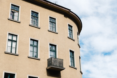 window view: Low angle view of traditional residential building in Pest