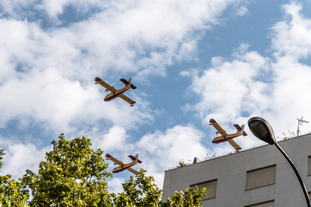 Firefighter aircrafts in Spanish National Day Parade