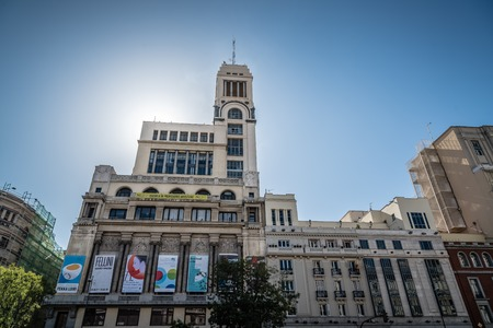 Madrid, Spain - October 14, 2017: The Circulo of Bellas Artes is a private cultural organization located in Madrid, it has played a major role of international scope in the field of cultural creation