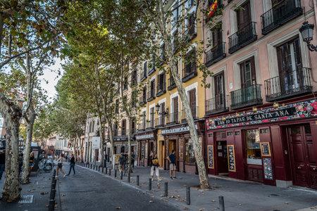 サンタ ・ アナ、マドリードの広場聖アン、 報道画像