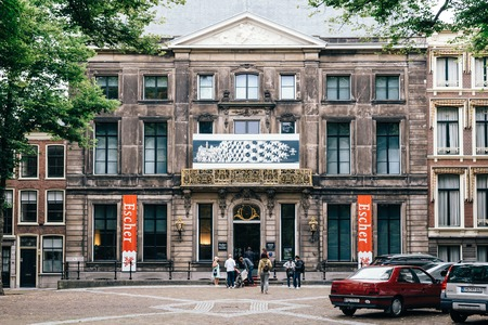 Hague, Netherlands - August 7, 2016:  Escher Museum in The Hague Outdoor view