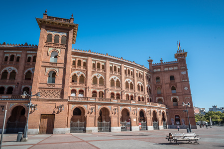 Outdoor view of Bullring of Las Ventas in Madrid