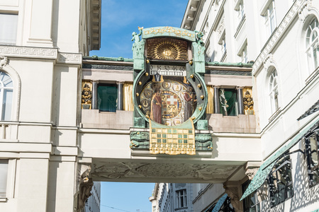 The Ankeruhr clock in Vienna