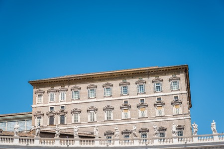 Apostolic Palace in the Vatican from the  Square