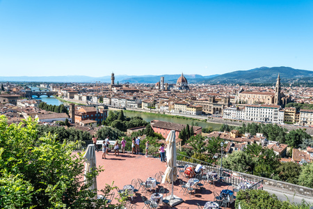 Florence cityscape a blue sky day Editorial