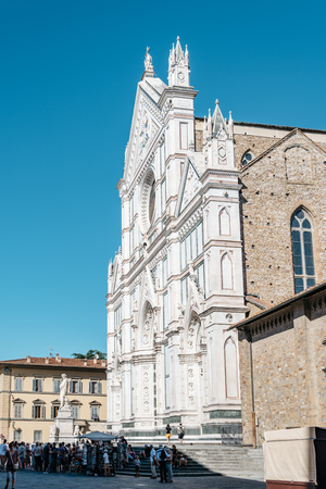 Basilica di Santa Croce in Florence Editorial