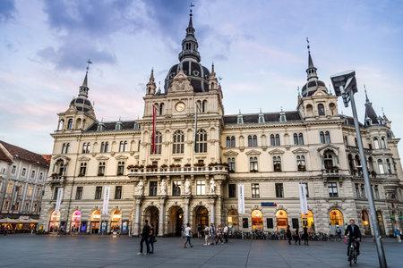 Square in historical city center of Graz