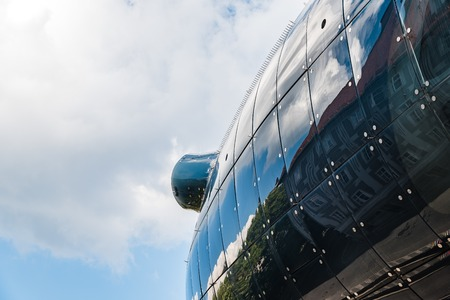Low angle view of Kunsthaus in Graz Editorial