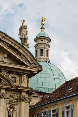 Mausoleum in historical city center of Graz Editorial