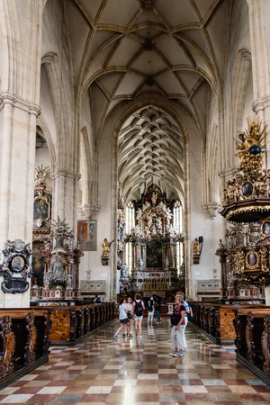 Interior view of the Cathedral of Graz Editorial