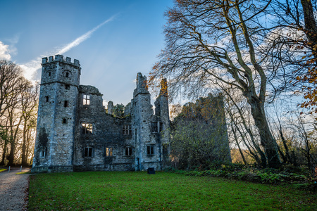 Castle of Mallow and gardens at sunrise Editorial