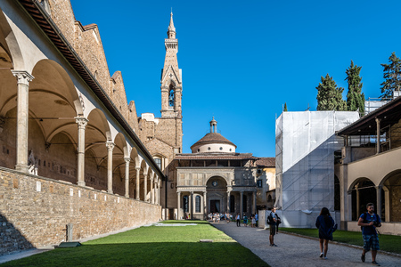 Outdoor view of Pazzi Chapel in Florence