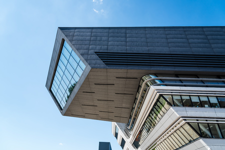Modern architecture building in the University of Vienna Editorial