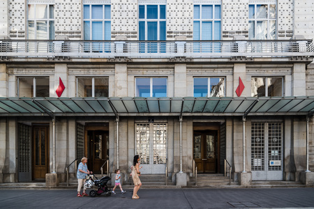 Austrian Postal Savings Bank building in Vienna Editorial
