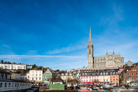Waterfront of Cobh a sunny morning