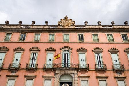 Outdoor view of Royal Palace of Riofrio in Segovia Editorial
