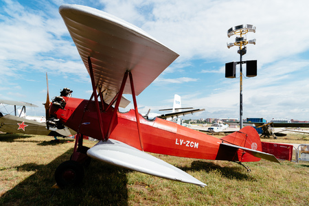 Consolidated Fleet airplane during Air Show Editorial