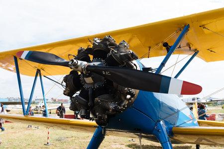 Aviones Boeing Stearman Kaydet durante Air Show