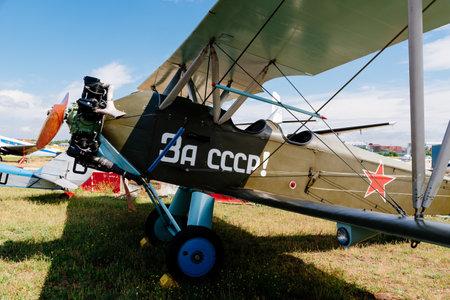 Polikarpov Po 2 Russian Aircraft during air show Editorial