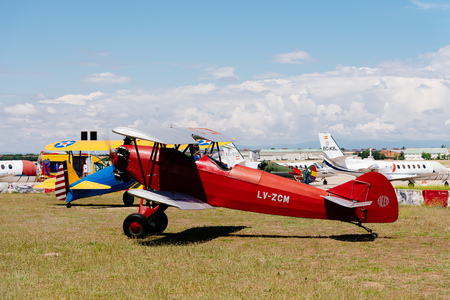Consolidated Fleet airplane during Air Show