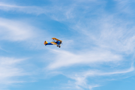 Boeing Stearman Kaydet aircraft during Air Show