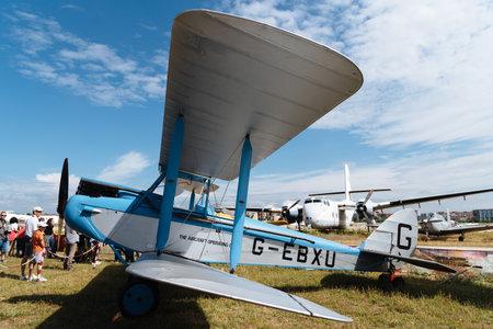 De havilland DH-60 Moth Aircraft during air show