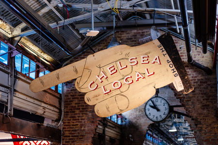 Interior view of Chelsea Market in New York