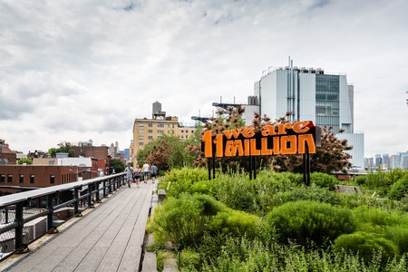 We are 11 million neon sign in High Line