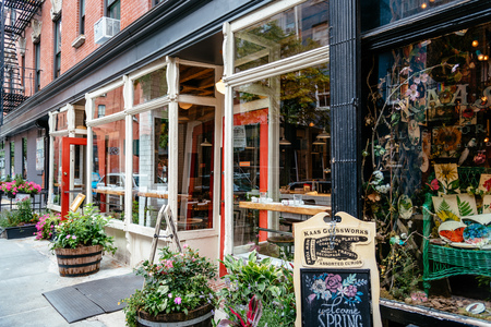 Fashionable restaurant and vintage store in Greenwich Village