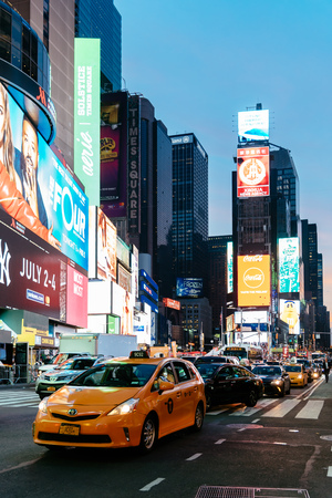 Scenic view of Times Square at night Editorial