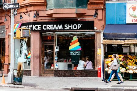 Gay Ice cream shop in Greeenwich Village Redactioneel