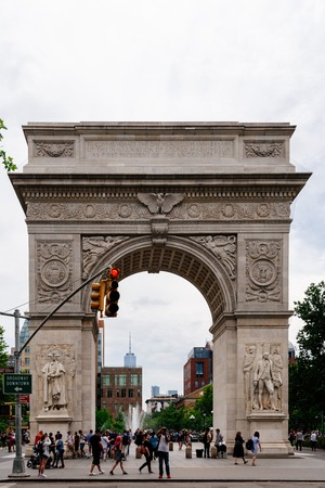 Arch in Washington Square Park in New York