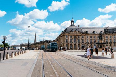 Place de la Bourse in Bordeaux a sunny day