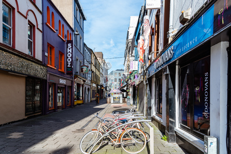 Pedestrian shopping street in Cork in Ireland
