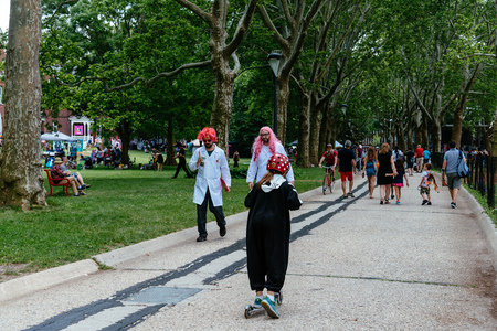 People enjoying in Festival on Governors Island