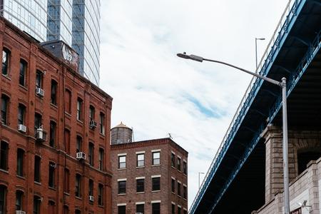 Manhattan Bridge from DUMBO in New York Stockfoto