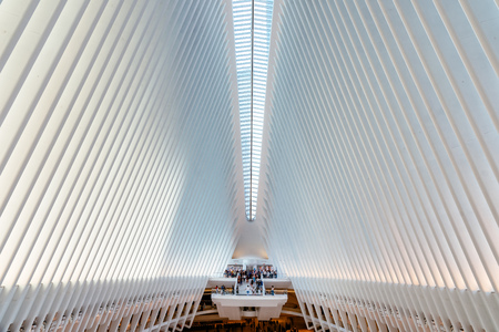 Interior view of Oculus in New York