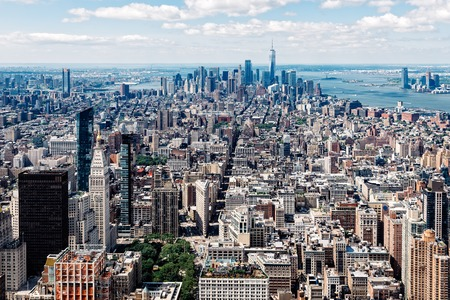 Aerial view of Manhattan in New York 写真素材