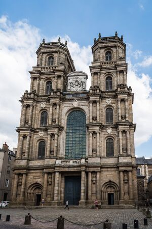 Exterior view of Saint Peter Cathedral in Rennes