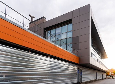 Modern architecture office building exterior view