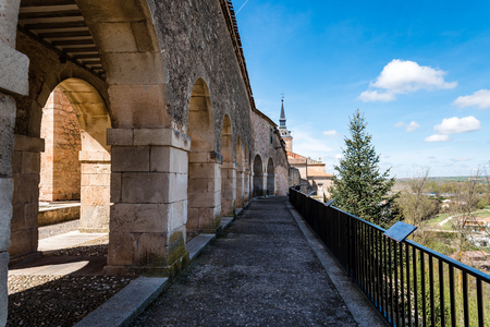 Arcade in the medieval wall of the town of Lerma