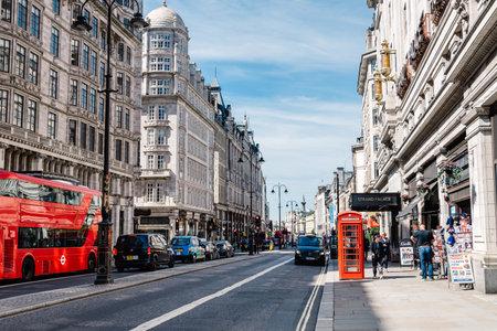 Busy London street scene on The Strand