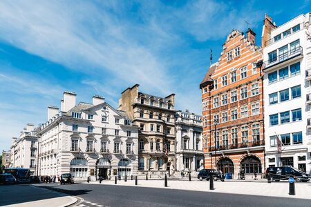 Luxury apartment buildings in Pall Mall in London