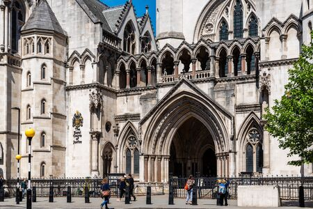Royal Courts of Justice building in London