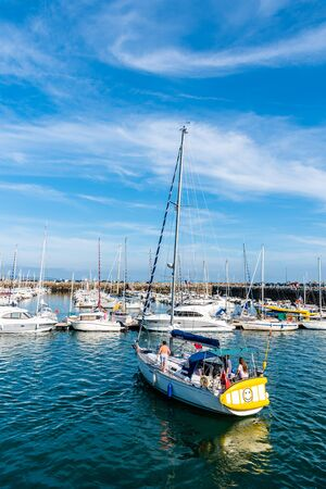 The port of Morgat a sunny day of summer Banque d'images - 128355686