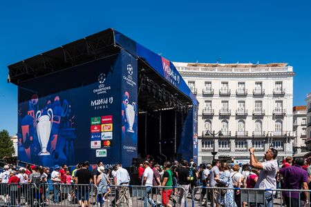 Tottenham fans at the UEFA Champions League Final in Madrid