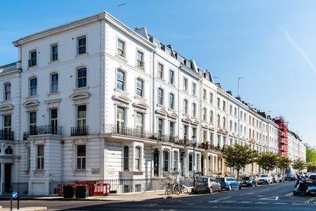 Viktorianische Häuser in Notting Hill in London