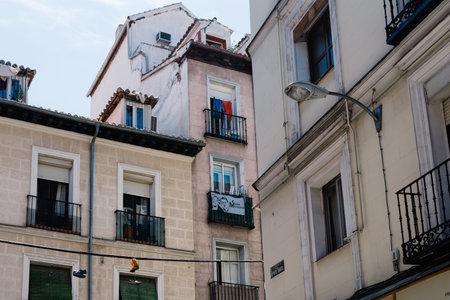 Paesaggio urbano del quartiere Malasana di Madrid