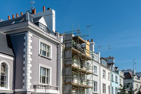 Colourful townhouses in Notting Hill, London