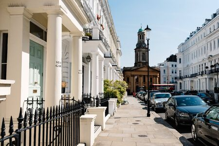 Victorian houses in Notting Hill in London 新闻类图片